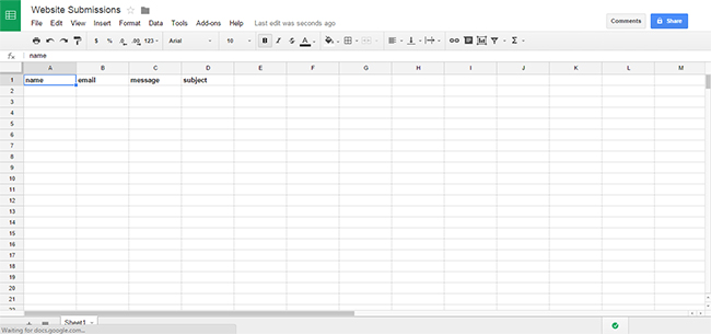 post-to-google-sheet